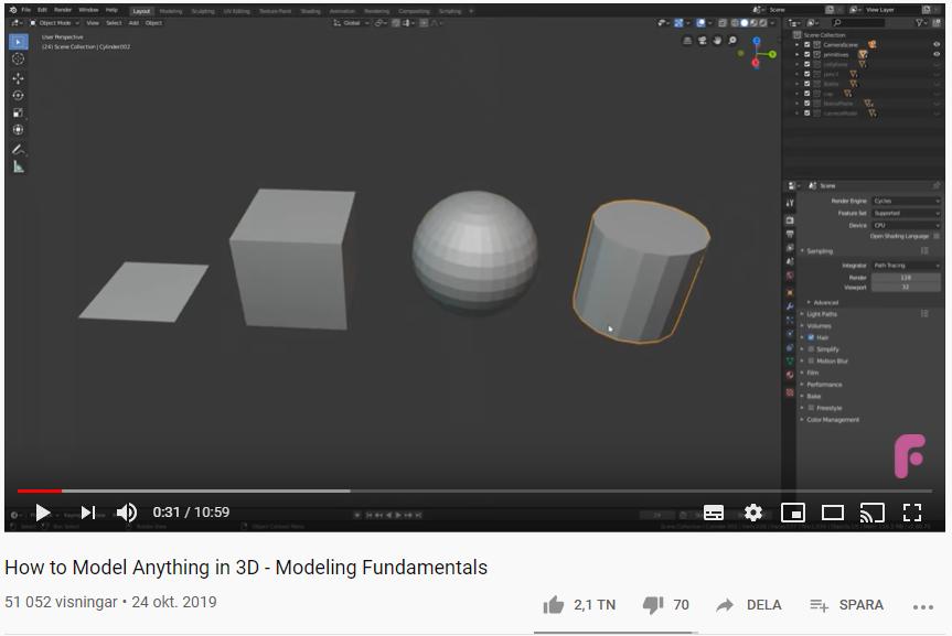 Grunderna i 3D-modellering