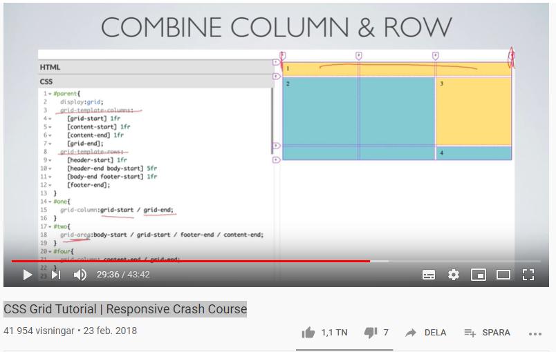 CSS Grid för responsiv webbdesign