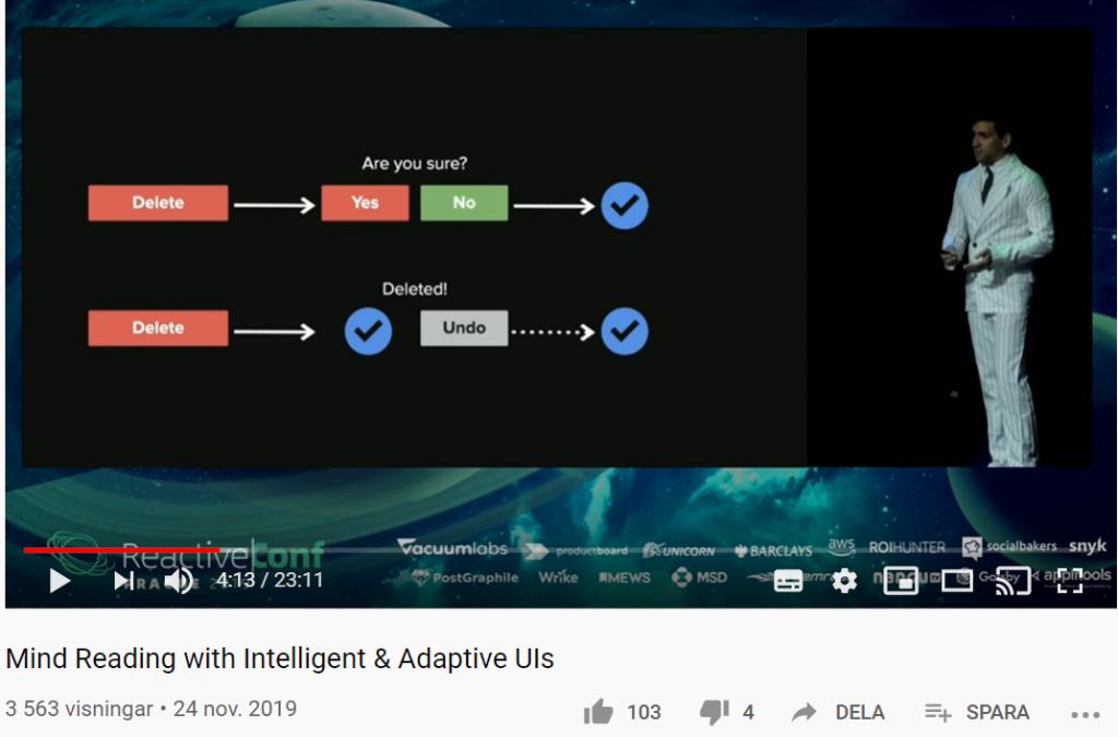 Designa adaptiva intelligenta användargränssnitt